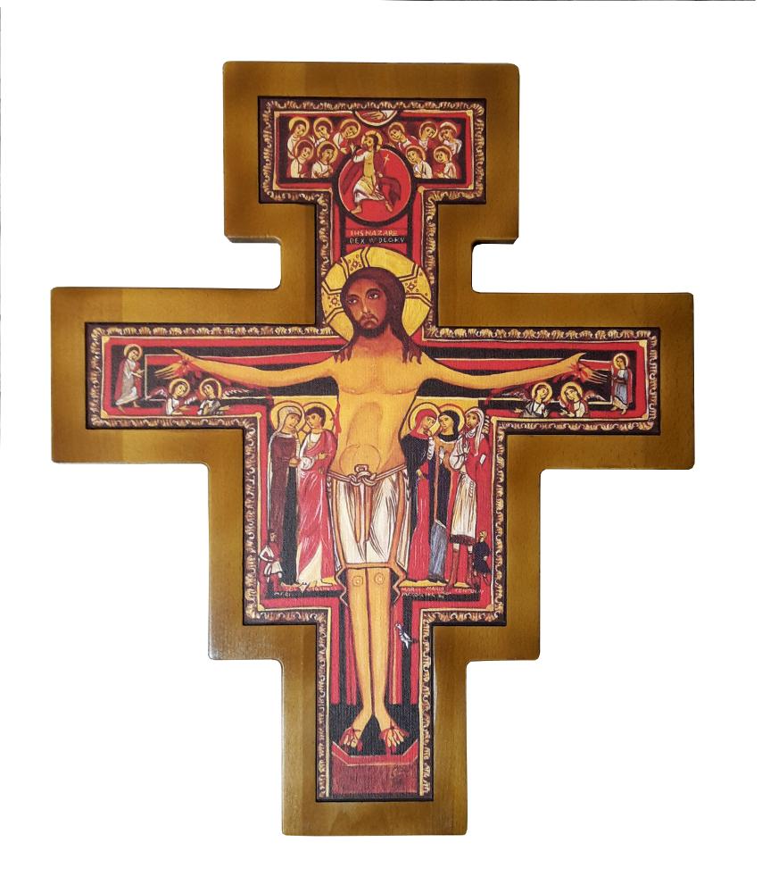 Krzyż franciszkański Wiszący 55 cm