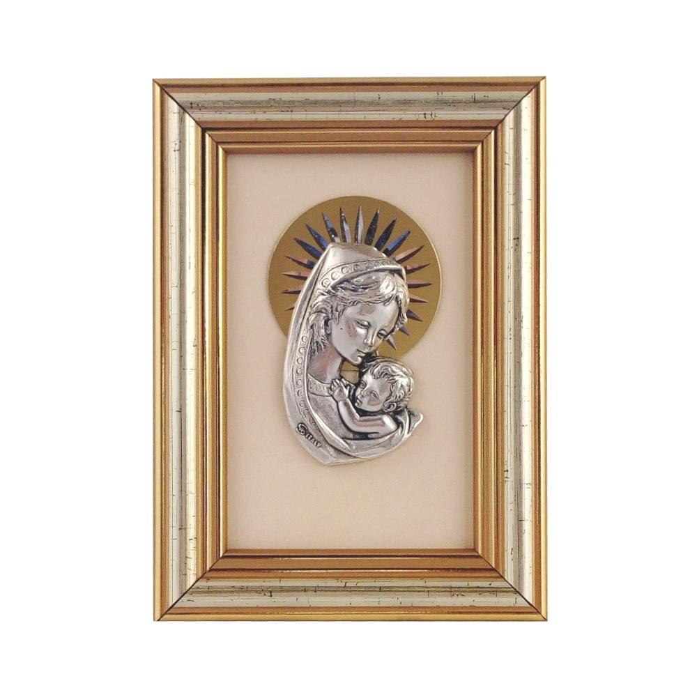 Obrazek płaskorzeźba w ramce Maryja