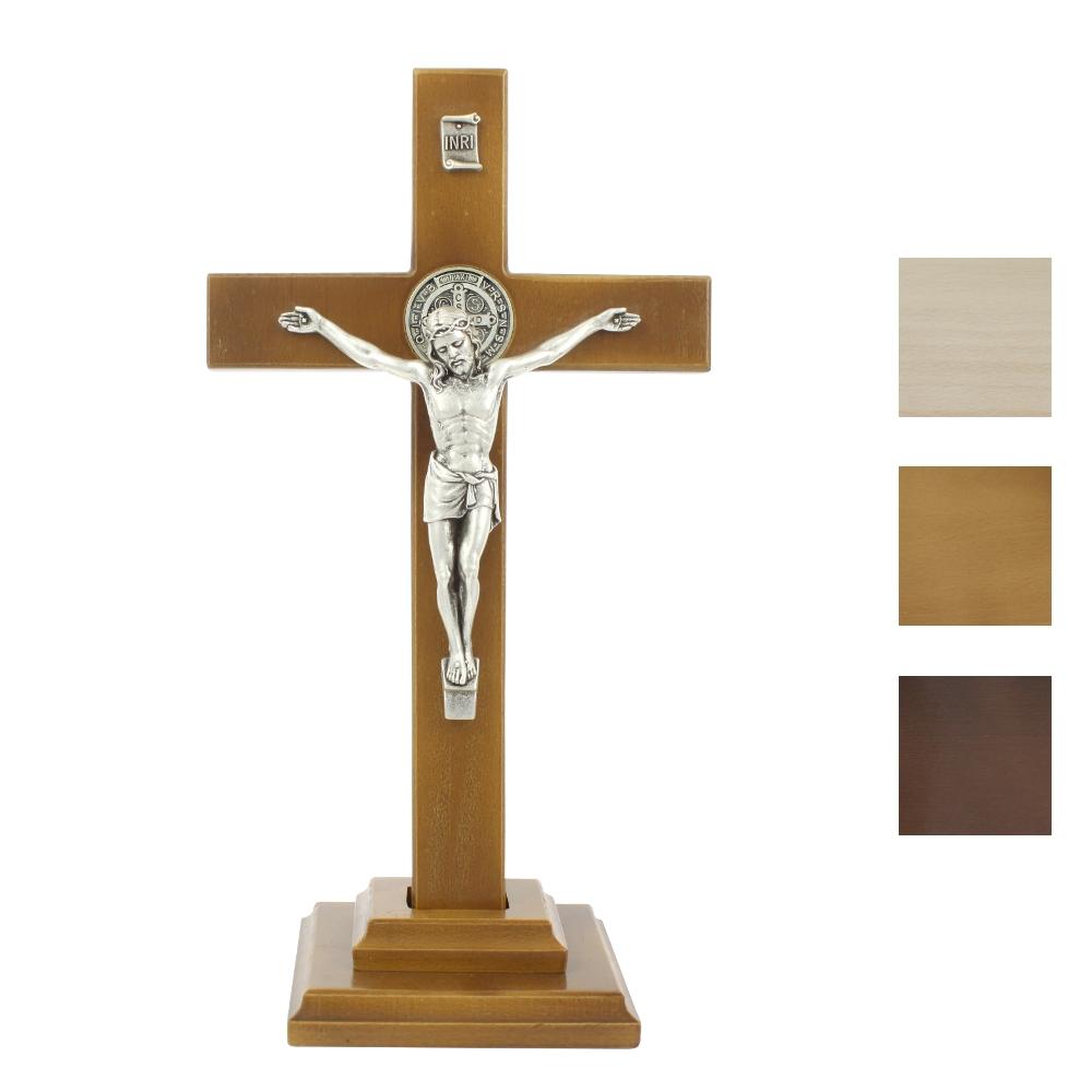 Krzyż Benedyktyński stojący 28 cm