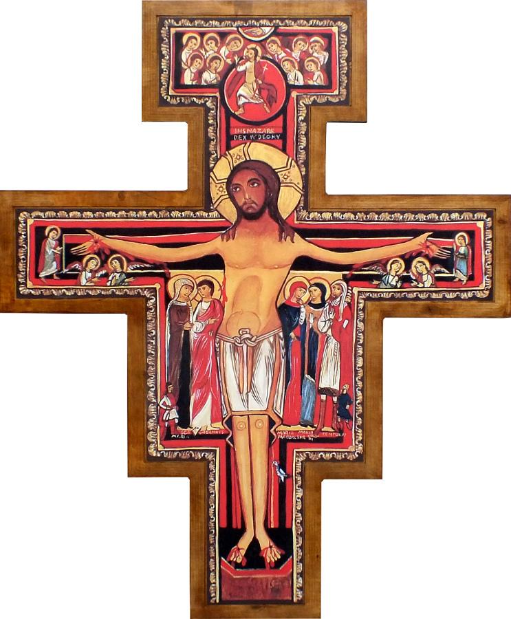 Krzyż Franciszkański wiszący 140 cm