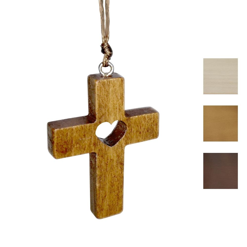 Krzyżyk z sercem 5 cm
