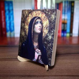 Ikonka – Matka Boża Bolesna – ze stojaczkiem
