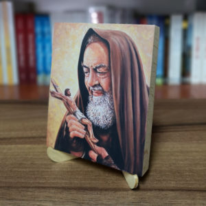 Ikonka drewniana o. Pio