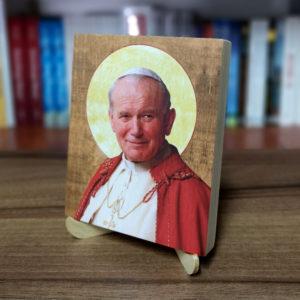 Ikonka – św. Jan Paweł II – ze stojaczkiem